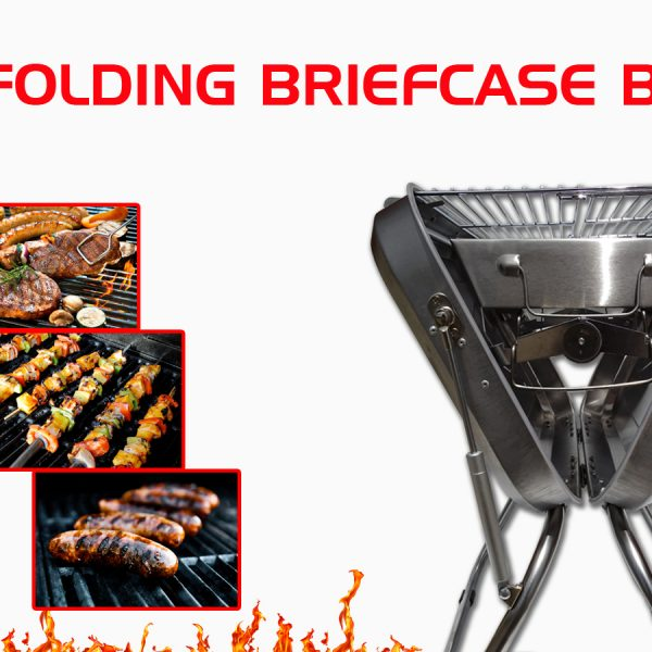 X-Type Stainless – Folding Charcoal Barbecue – Compact BBQ – Maximum Flavour